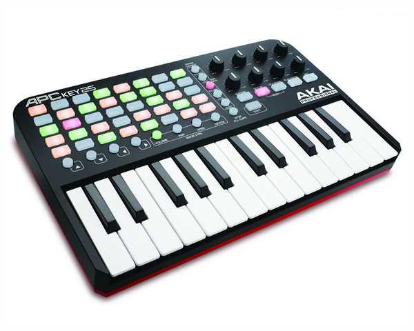 Akai APC-KEY25 Hardware-Controller und USB-Keyboard für Ableton Live