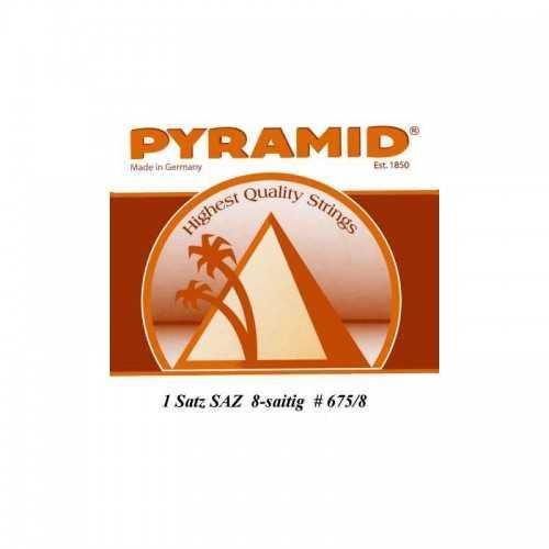 Pyramid Saitensatz für Langhals Saz 8-Saitig