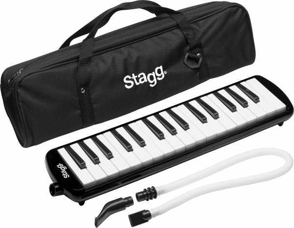 Stagg Melodika 32 Tasten schwarz mit Tasche