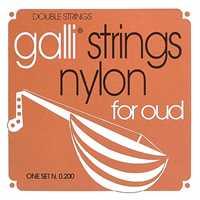 Galli O-200 Oud Saitensatz Nylon, Silver plated