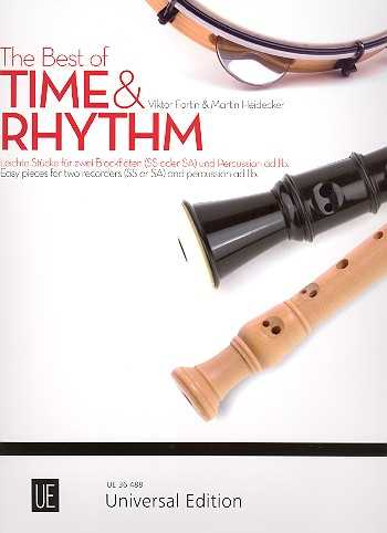 The Best of Time and Rhythm : für 2 Blockflöten (SS/SA) (Percussion ad lib) Spielpartitur
