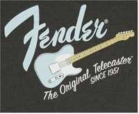 Fender Tele T-Shirt Grey/Sonic Größe L