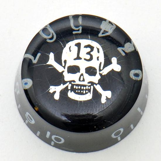 """Göldo KB15T """"Skull"""" Potiknopf (hatbox), schwarz"""