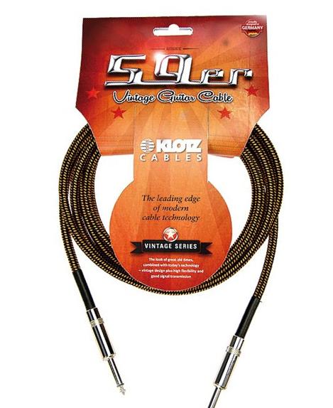 Klotz Vintage 59er Instrumentenkabel 6,3mm Klinke 3m