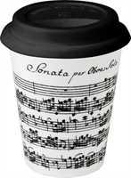 Coffee to go Porzellan mit Gummideckel