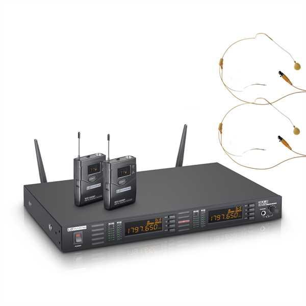 LD Systems WS 1 G8 BPHH2 - Funkmikrofon System mit 2 x Belt Pack und 2 x Headset