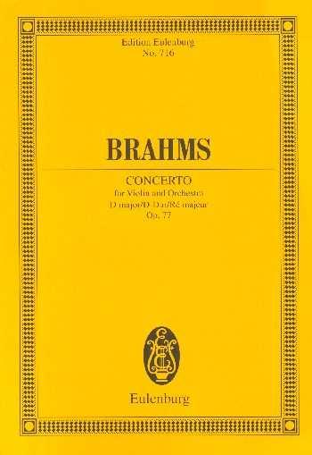 Johannes Brahms Konzert D-Dur op.77 : für Violine und Orchester Studienpartitur