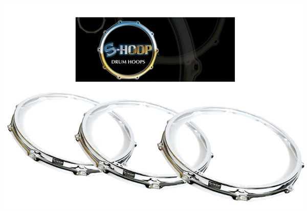"""S-Hoop Spannreifen 14"""" 10-Loch Chrom/Stahl"""