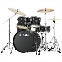 "Tama Imperialstar 20"" Drumset IP50H6N-BBOB Blacked Out Black, Black HW + Meinl MCS Beckenset"