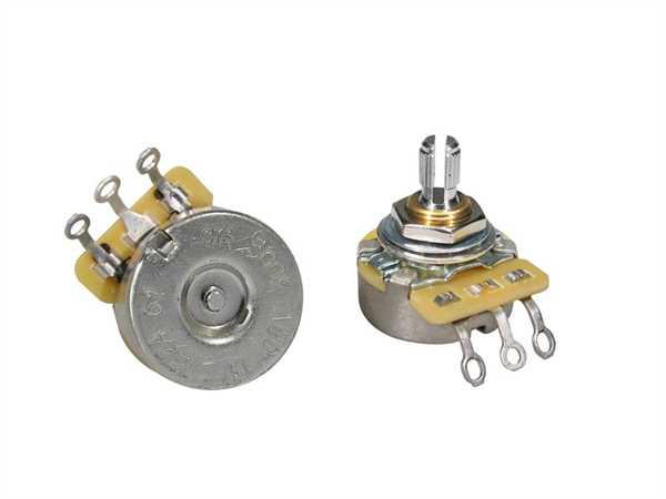 """CTS-500 A61 Poti Logarhytmisch (Volumen) 500 KOhm Schaftlänge: 1/4"""" (6,35mm)"""