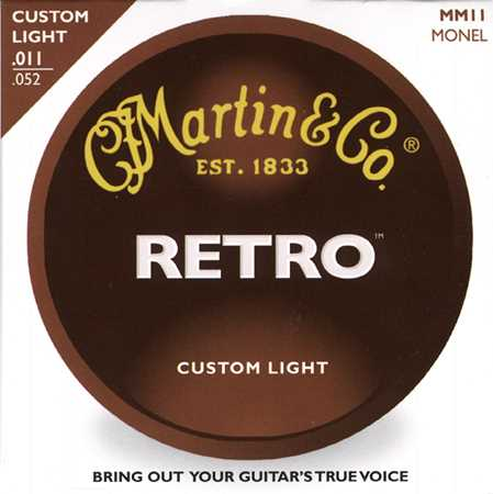 Martin MM-11 Retro Akustik-Saitenset 011-052, custom light
