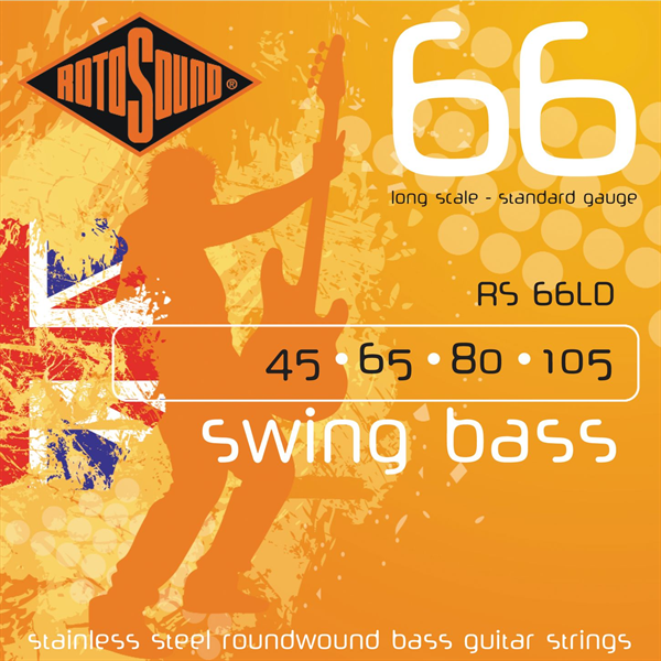 Rotosound Swingbass RS-66 LD Doppelpack mit Shirt