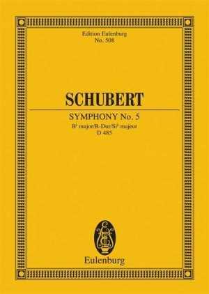 Franz Schubert Sinfonie B-Dur Nr.5 D485 : für Orchester Studienpartitur