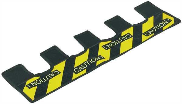 K+M Warnstreifen für Boxenstativfuß gelb/schwarz