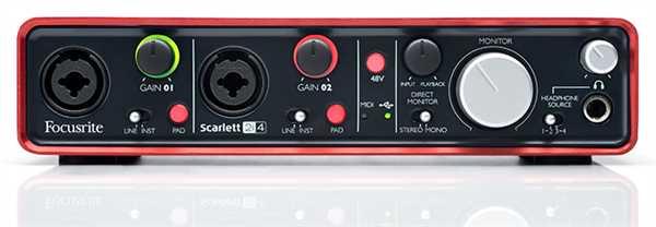 Focusrite Scarlett 2i4 USB 2.0 Audio-Interface
