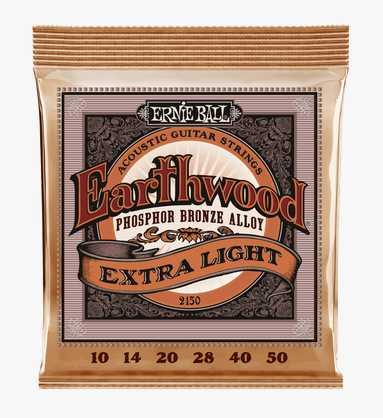 "Ernie Ball ""Earthwood Phos. Bronze extra light"" Westerngitarren Saitenset 010-050"