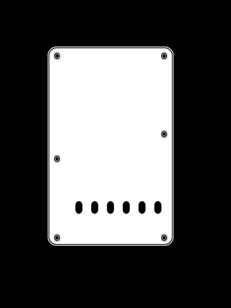 Boston BP-313 W Backplate für Strat, weiß