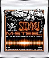 """Ernie Ball 2922 """"M-Steel Hybrid Slinky"""" E-Gitarren Saiten 009-046"""