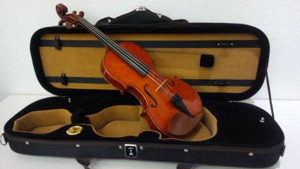 Violine Einzelstück 4/4 Spirituslack vollmassiv mit Evah Pirazzi Saiten