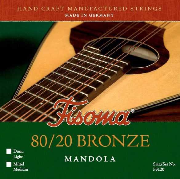 Fisoma F-3120 D Satz Mandola-Saiten Bronze, Light