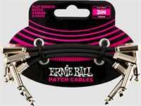 Ernie Ball Patchkabel 6220 gewinkelt/gewinkelt 7,5cm 3er Pack
