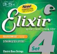 Elixir 14677 Nanoweb Stainless Steel 045-105