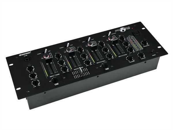 Omnitronic PM-444 USB DJ-Mixer