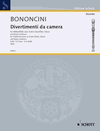 Giovanni Battista Bononcini Divertimenti da camera Band 1 (Nr.1-2) : für Altblockflöte (vl, fl, ob