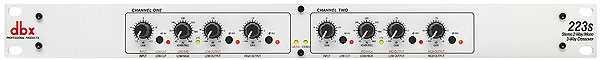DBX 223 S Stereo 2-Weg, Mono 3-Weg Frequenzweiche mit Klinkenbuchsen