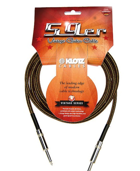 Klotz Vintage 59er 6m Instrumentenkabel 6,3mm Klinke schwarz/braun