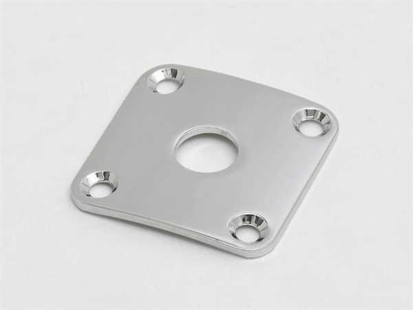 Göldo JLP0C Buchsenplatte, 4-lochig - Metall, chrom