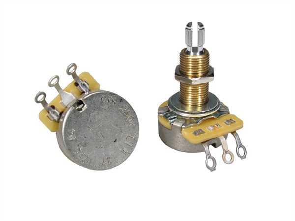 "CTS-250 B64 Poti Linear (Tone) Lange Schaftlänge 3/4"" (19,05mm)"