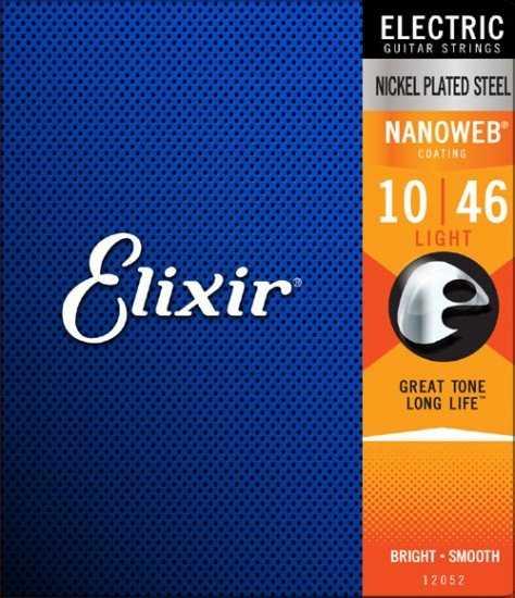 Elixir 12052 Light Saitenset 010-046 E-Gitarre