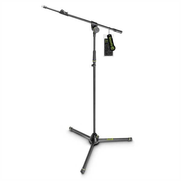 Gravity MS 4312 B - Mikrofonständer mit Dreibein-Klappfuß und 1-Punkt Ausziehgalgen
