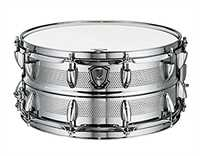 "World Max Snaredrum XM-6514PT   14"" x 6,5"" Stahlkessel Micro Vents, Power Hoop, S-3 Abhebung"
