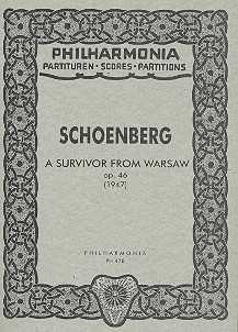 Arnold Schönberg Ein Überlebender aus Warschau op.46 : für Orchester Studienpartitur