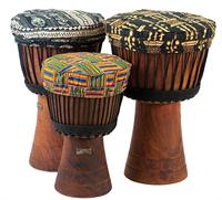 African Percussion Fellschoner Kambala Djembe Cover farbig Ø36cm