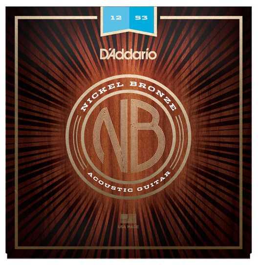 D'Addario NB1253 Nickel-Bronze Westerngitarrensaiten 012-053