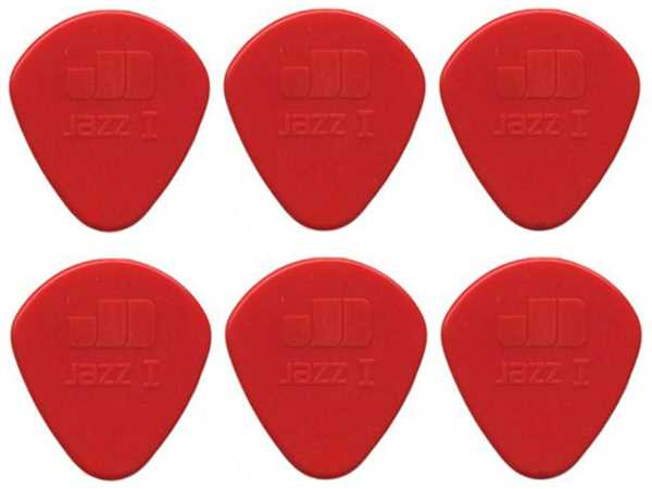 Dunlop Jazz I Plektrum, Nylon 1,10, 6er Set