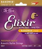 Elixir 16027 011-052 Phos. Bronze Saitenset Custom Light