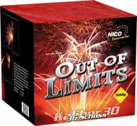 Nico Out of Limits Explosion Bombenbatterie 37 Schuß ca. 30 Sek. Kaliber 30 50m