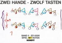Antiquariat Klaus Runze Zwei Hände - zwölf Tasten Band 2 Spiel mit Noten Schule für Klavier