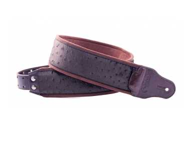 RightOn Straps Jazz Ostrich Brown Gitarrengurt