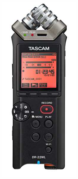 Tascam DR-22WL Handyrecorder mit WLAN-Anbindung