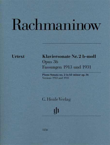 Sergej Rachmaninow Klaviersonate Nr. 2 b-moll op. 36, Fassungen 1913 und 1931