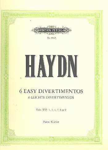 Franz Joseph Haydn 6 leichte Divertimenti : für Klavier