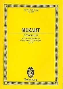 Wolfgang Amadeus Mozart Konzert Es-Dur KV271 : für Klavier und Orchester Studienpartitur
