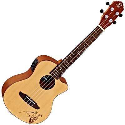 Ortega Konzertukulele mit Cutaway und Tonabnehmer RU5CE