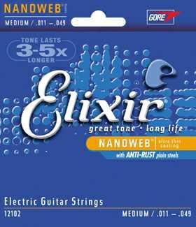 Elixir 12102 011-049 Nano Web E-Gitarrensaiten