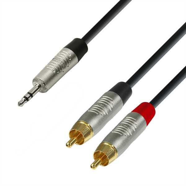 ah Cables 4-Star 1,5m Y-Kabel 2x Cinch - 1x Miniklinke